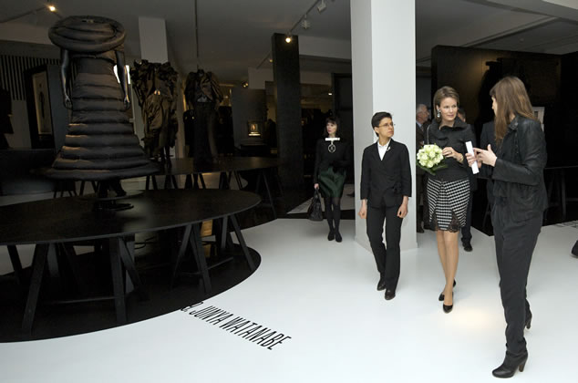 Princess Mathilde, Cathy Berx and Kaat Debo visiting BLACK