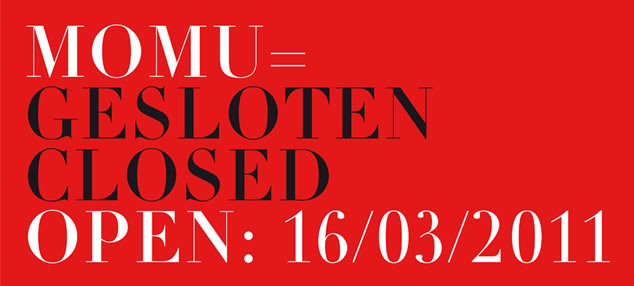 MoMu is temporarily closed. 'Unravel. Knitwear in Fashion' opens March 16th