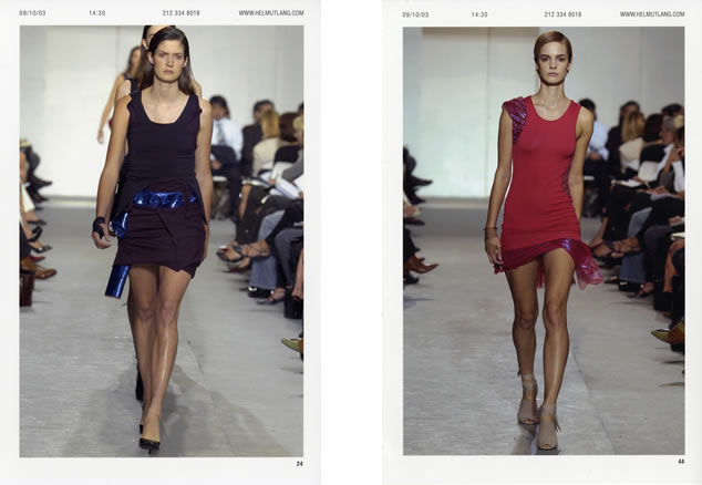 Helmut Lang spring/summer 2004 runway photo