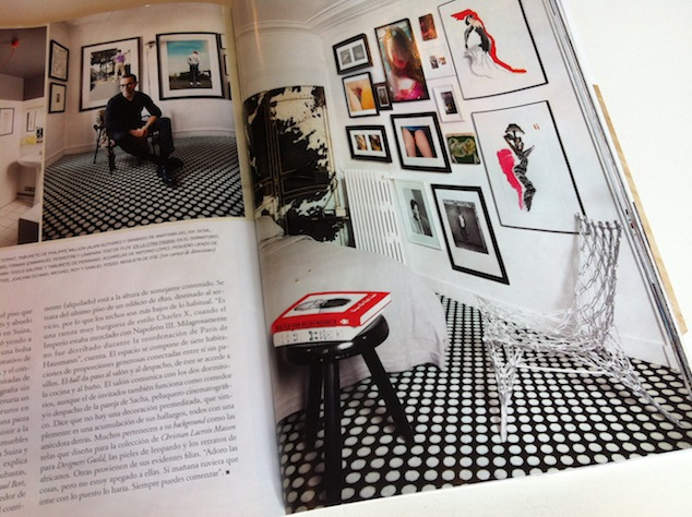 page from Architectural Digest Spain, March 2012