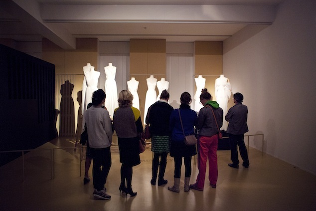 Visitors at the Madame Grès exhibition, 2012, Photo: Boy Kortekaas