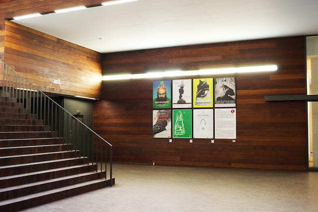 MoMu exhibition posters in the entrance hall, 2012, Photo: MoMu