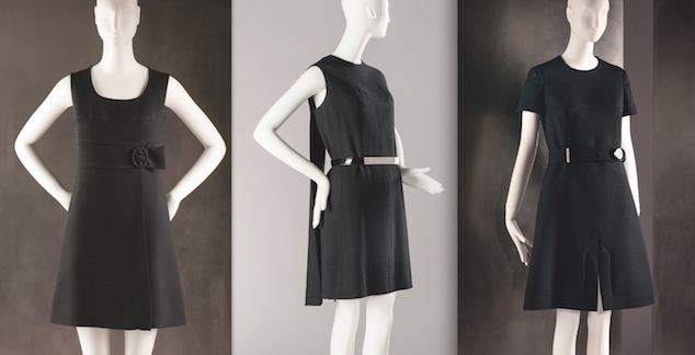 Three little black dresses by Chanel from the 1920s from the MoMu Collection featured in the exhibition 'The Chanel Legend', (c) Draiflessen Collection - Mettingen, Photo: Christin Losta