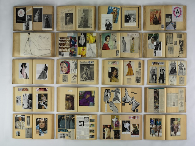 Installation with 20 Abraham scrapbooks, (c) Swiss Nationalmuseum