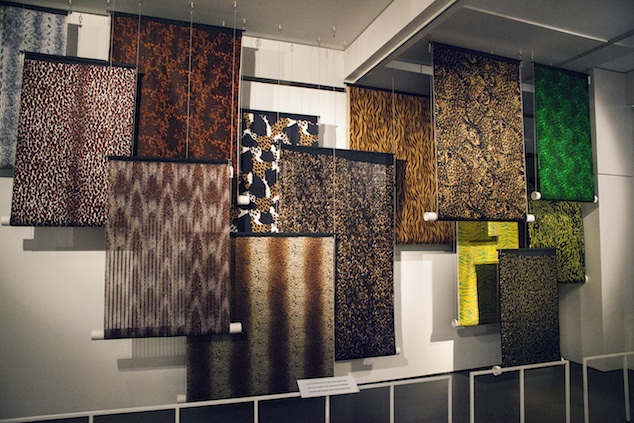 Animal prints at the exhibition Silks & Prints from the Abraham Archive - Couture in Colour, 2013, Photo: Boy Kortekaas