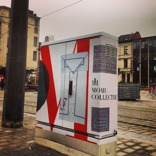 Utility closet in the Nationalestraat dressed by MoMu, 2013, Photo: (c) MoMu