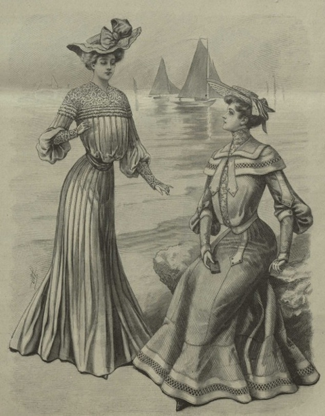 Summer dresses by Mlle Louise Piret, 'La Mode Illustrée, Journal de la Famille', nr25, 1903, p. 299, MoMu Archives
