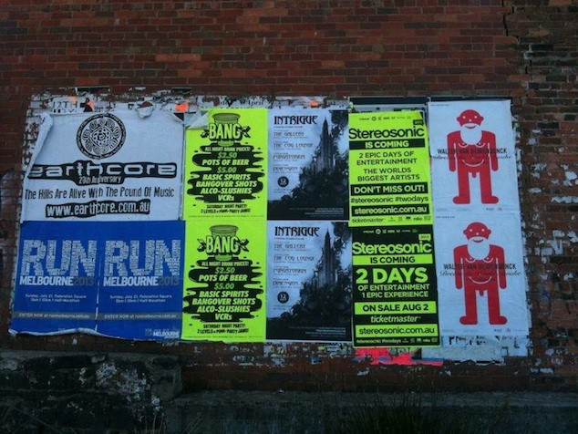 Posters announcing the Walter Van Beirendonck - Dream the World Awake expo in Melbourne, 2013, Photo: WVB