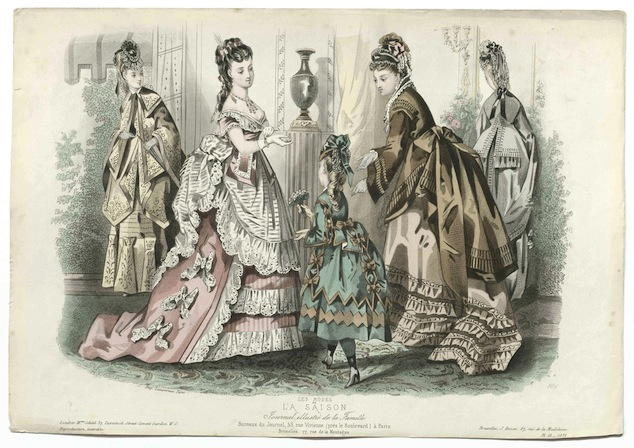 Fashion Plate: La Saison, Journal illustré de la Famille, 1872, plate 18, MoMu Collection P79/4F