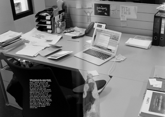 Desk by MoMu's PR David Flamée featured in Collections A/W 2013, Photography: Eduardo Rossi & Jack Davey