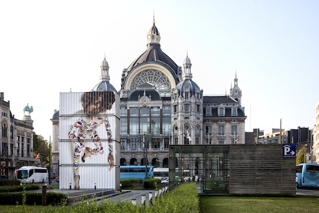 Antwerp Icon Bernhard Willhelm at Antwerp's Central Station, 2013, Photo: Ronald Stoops