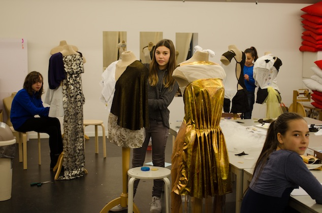 Workshops for children at the MoMu - Fashion Museum Antwerp, 2013, Photo: Maaike Delsaerdt