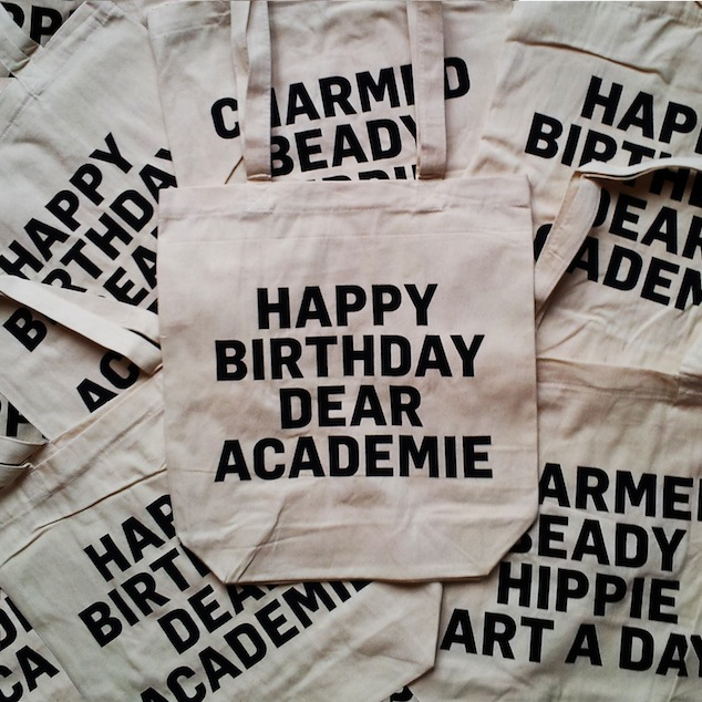 Happy Birthday Dear Academie at MoMu - Fashion Museum Antwerp tote bags