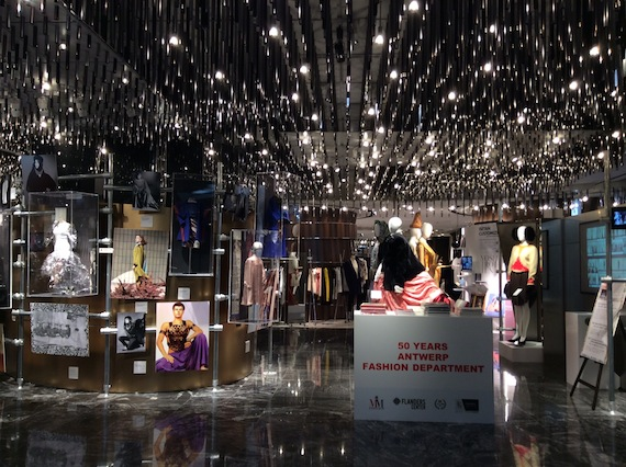 MoMu Antwerp installation 50 Years Antwerp Fashion Department at Isetan Tokyo