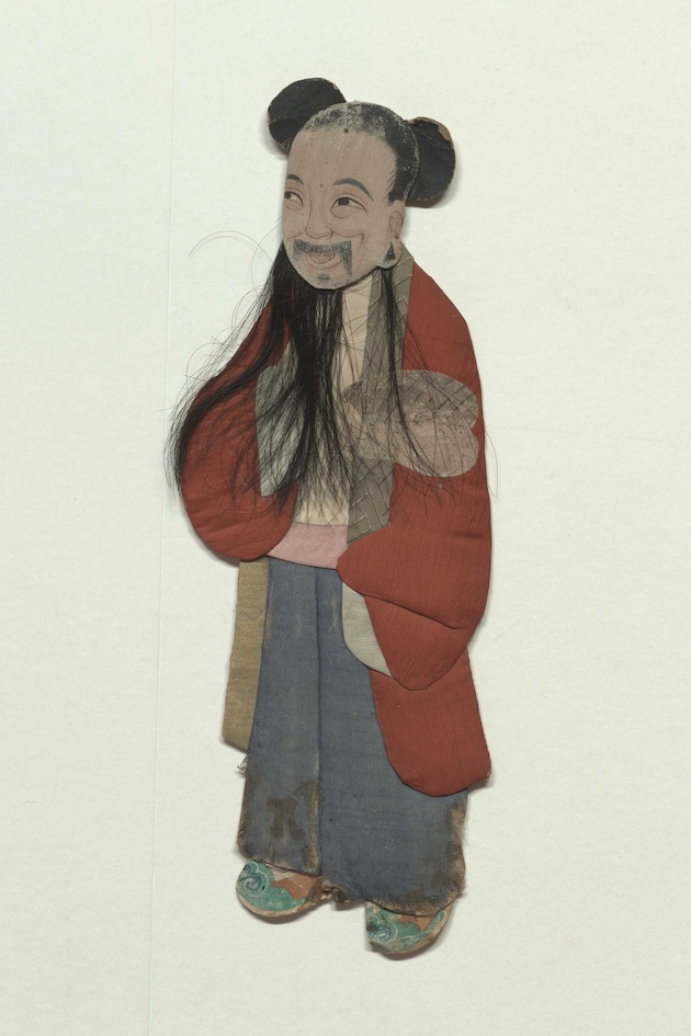 Chinese figurine representing Mo Zhongli a character from a Chinese play