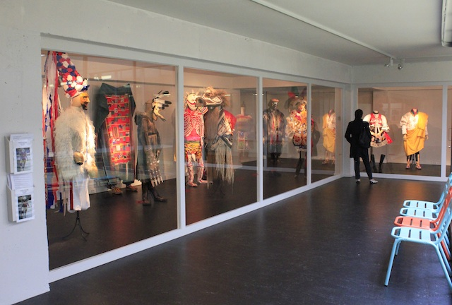 Ethnical costumes from the Antwerp Fashion Department at the MoMu Gallery, Photo: Charlotte de Gier