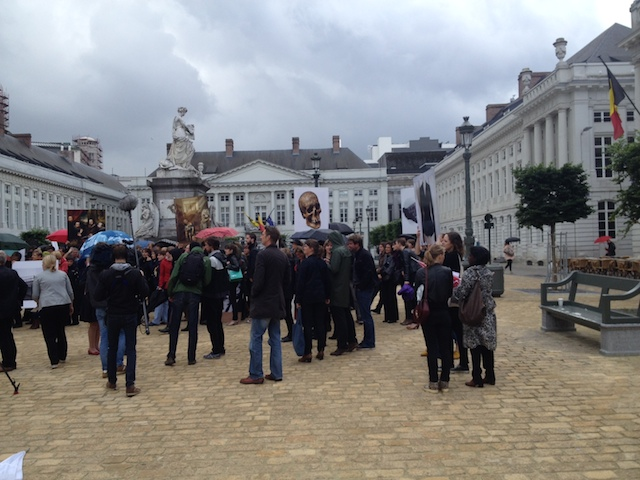 #wateraandelippen, 24 Flemish musea protest in Brussels, photo: Gabrielle De Pooter