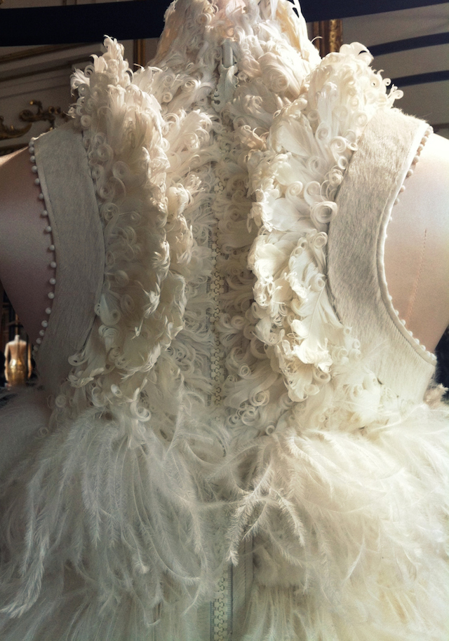 Detail of the dress Zuzanna, Haute Couture A/W 2011-2012 by Riccardo Tisci for Givenchy