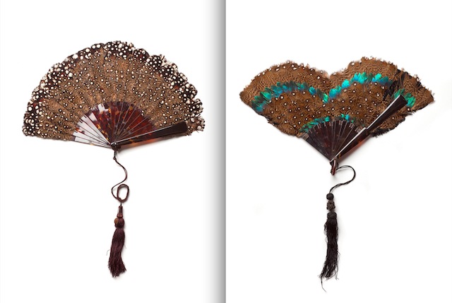 Feather fans from the MoMu Collection, Photo: Stephen Mattues