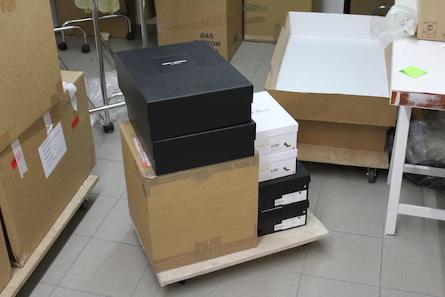 Boxes of the new Coccodrillo donations to the MoMu - Fashion Museum Antwerp collection.