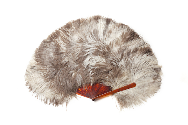 Feather fan from the MoMu Collection, Photo: Stephen Mattues