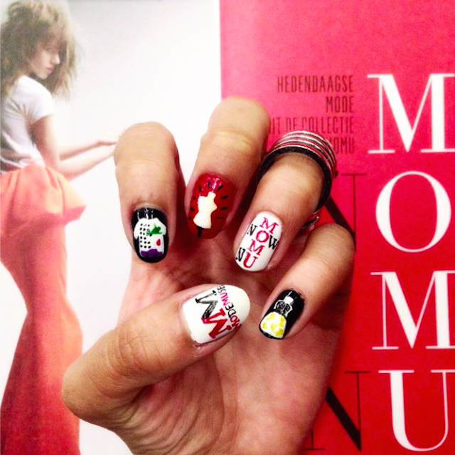 MoMu Now nail art by http://instagram.com/melaniach