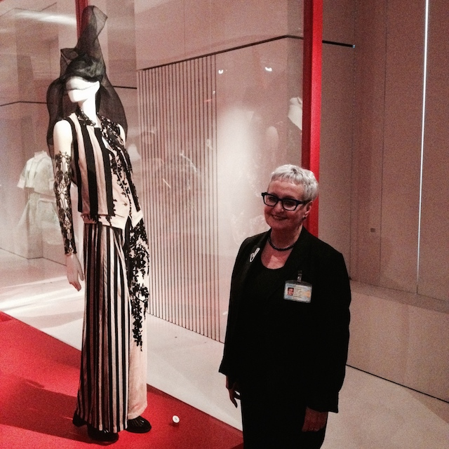 Christel Dierckx, guard with her favorite silhouette of the MoMu Now exhibition
