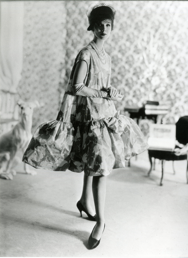Cristóbal Balenciaga, Spring/Summer 1958. 'Baby doll' cocktail dress.