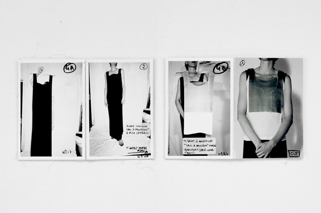 Preparation booklets with images made by Martin Margiela for the video shown at the spring/summer 1998 collection presentation. Photo: Monica Ho