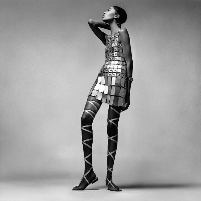 Donyale Luna wearing Paco Rabanne. 1966. Photo by Richard Avedon
